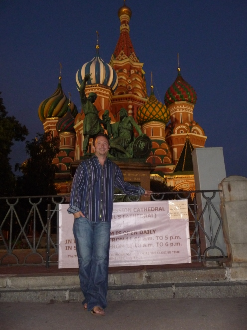 Justin in Front of St Basil